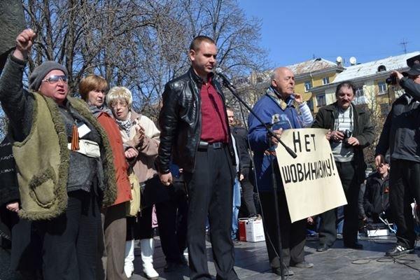 Как в Луганске проходил пророссийский митинг (ФОТО), фото-4