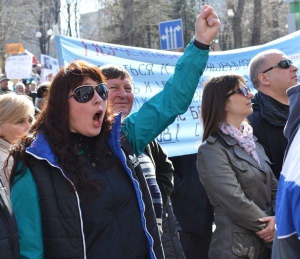 Как в Луганске проходил пророссийский митинг (ФОТО), фото-16