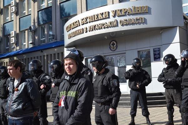 Как в Луганске проходил пророссийский митинг (ФОТО), фото-14