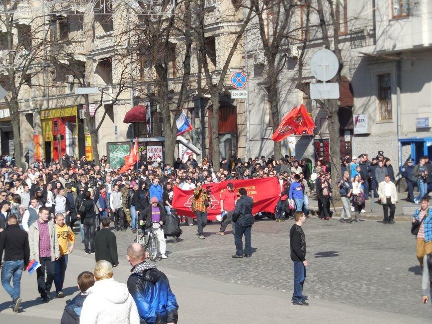 Пророссийские активисты двинулись шествием по Сумской (ФОТО), фото-4