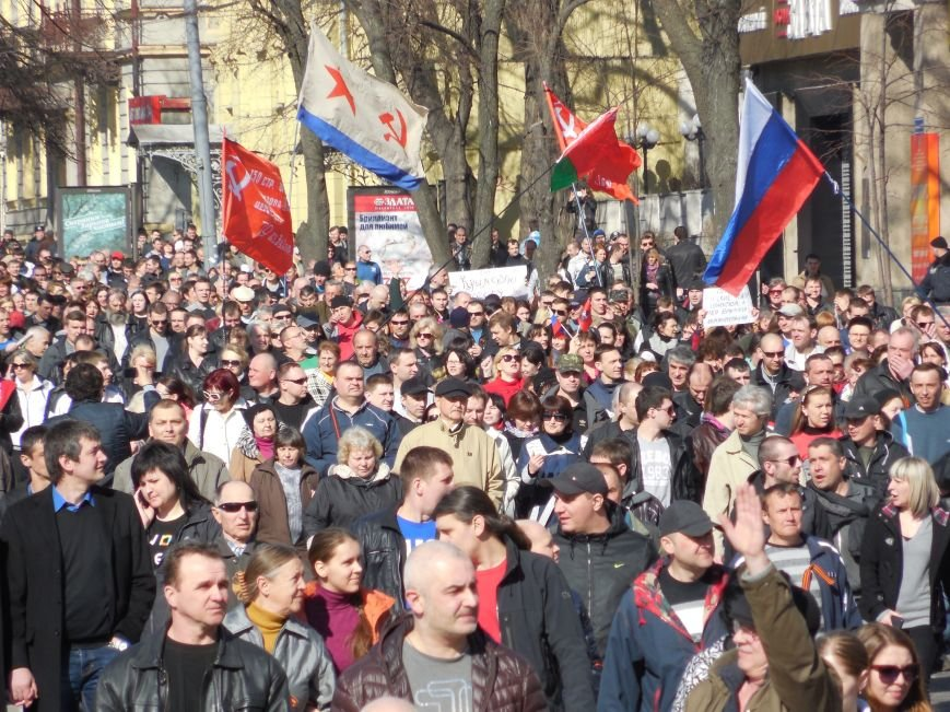 Пророссийские активисты двинулись шествием по Сумской (ФОТО), фото-9