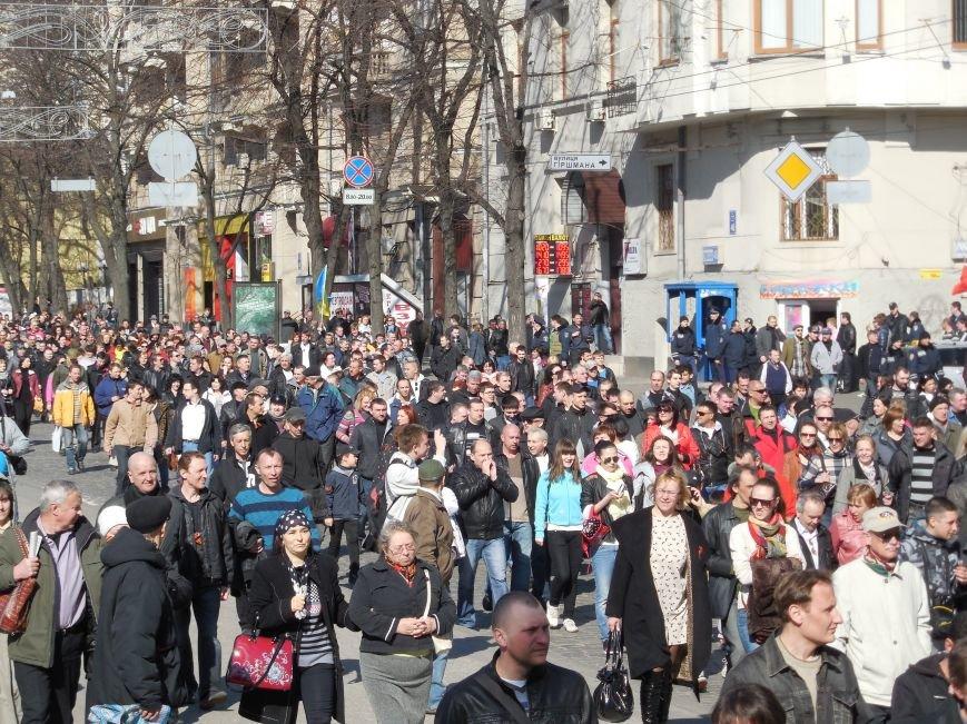 Пророссийские активисты двинулись шествием по Сумской (ФОТО), фото-7