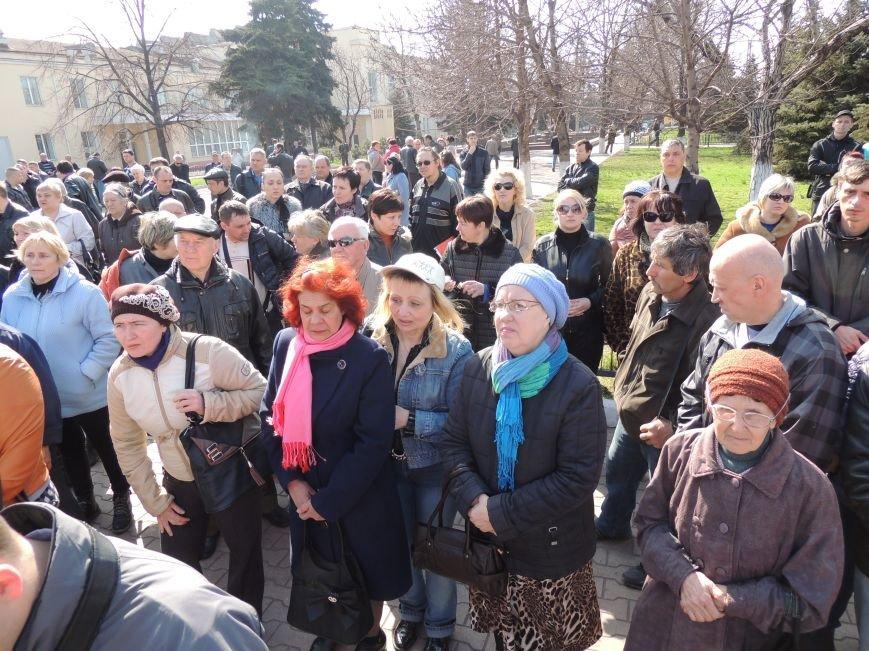 В Мариуполе азовмашевцы вышли на митинг (ФОТО), фото-7