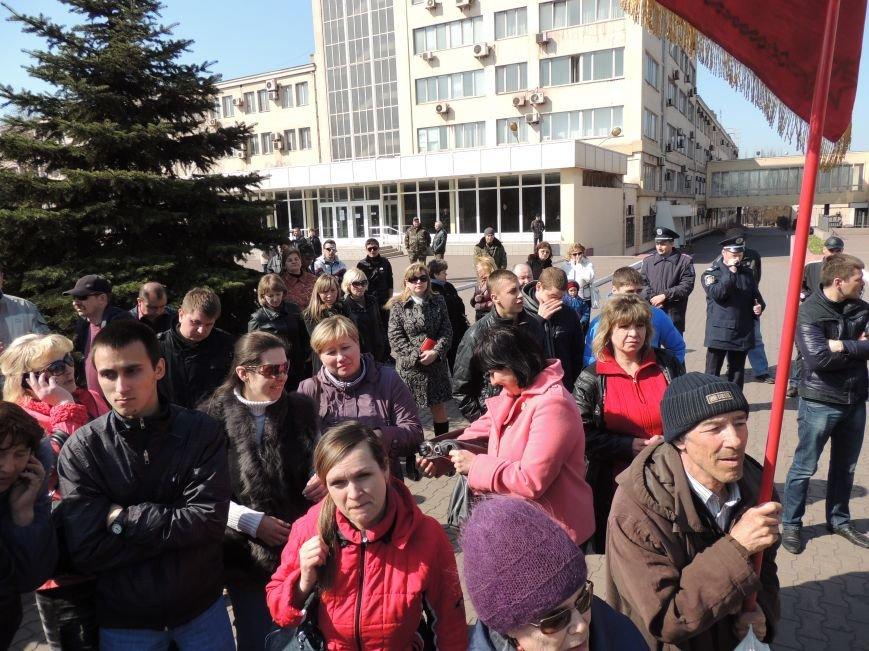 В Мариуполе азовмашевцы вышли на митинг (ФОТО), фото-12