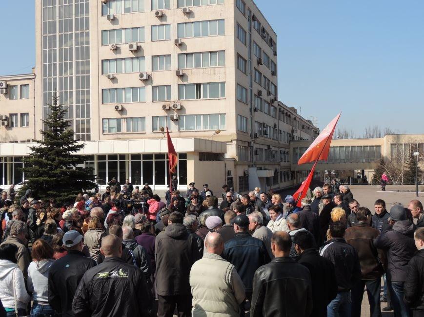 В Мариуполе азовмашевцы вышли на митинг (ФОТО), фото-2