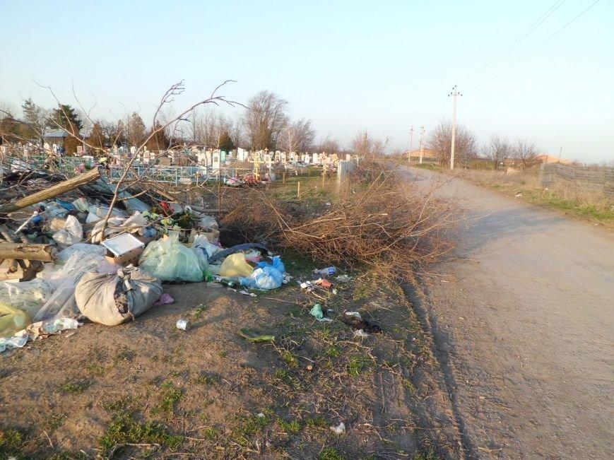 Глава Поляковского поселения г-н Галицкий, у вас на кладбище - свалка, фото-5