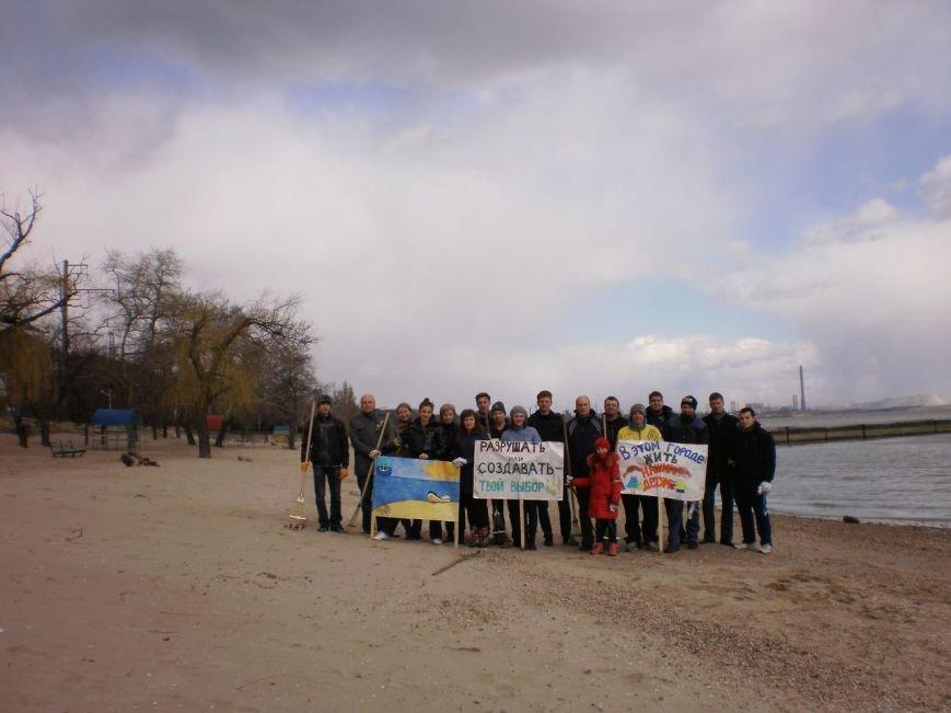 В Мариуполе патриоты Украины провели субботник на пляже (ФОТОРЕПОРТАЖ), фото-9