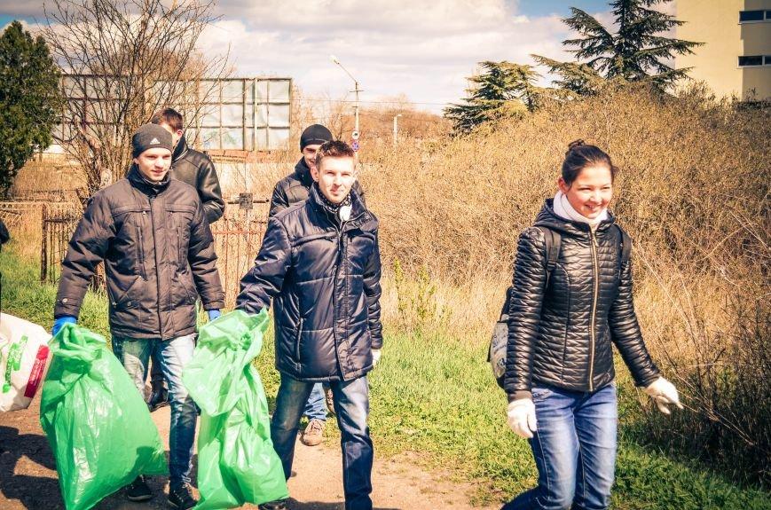Симферополь в выходной день убирали студенты (ФОТО), фото-8
