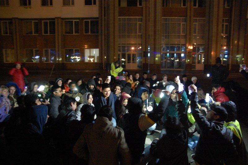 В Белгороде акцию «Час Земли»  рекламировали телевышка, общежитие и здание университета (фото) - фото 2