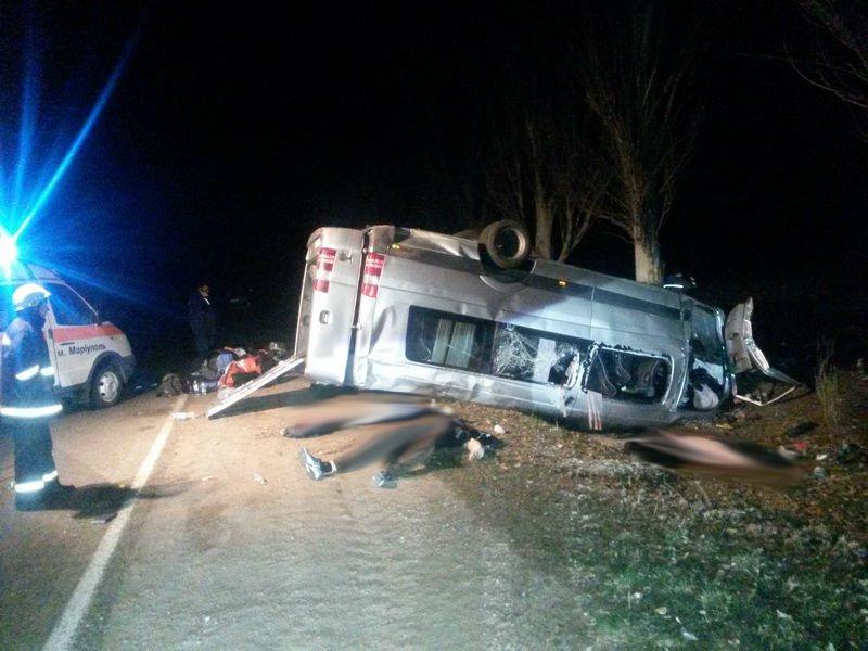 Шок! Под Мариуполем автобус врезался в дерево - 6 человек погибло, 12 - травмировано (ФОТО ВИДЕО), фото-6