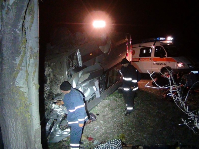 Страшное ДТП в Донецкой области - погибли 5 пассажиров микроавтобуса (ФОТО) (фото) - фото 2