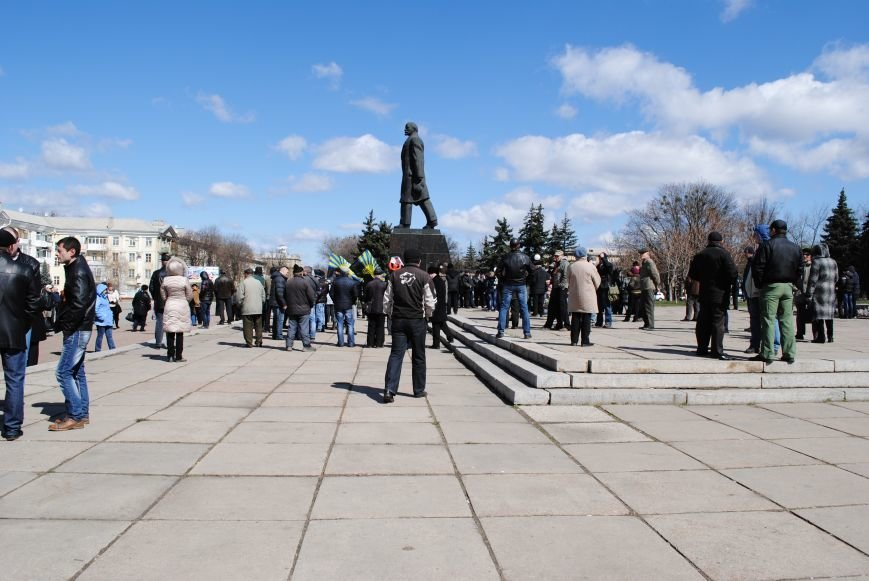 Митинг на центральной площади Краматорска, фото-3