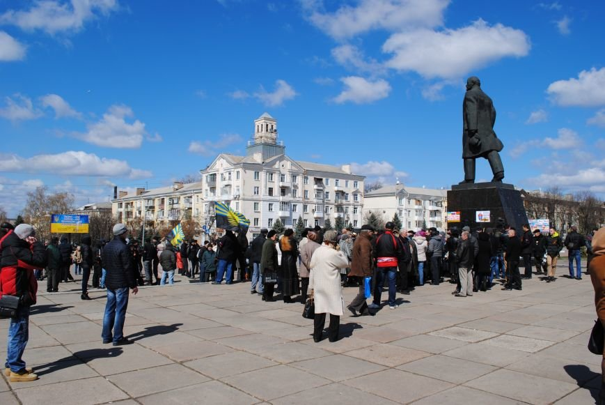 Митинг на центральной площади Краматорска, фото-5
