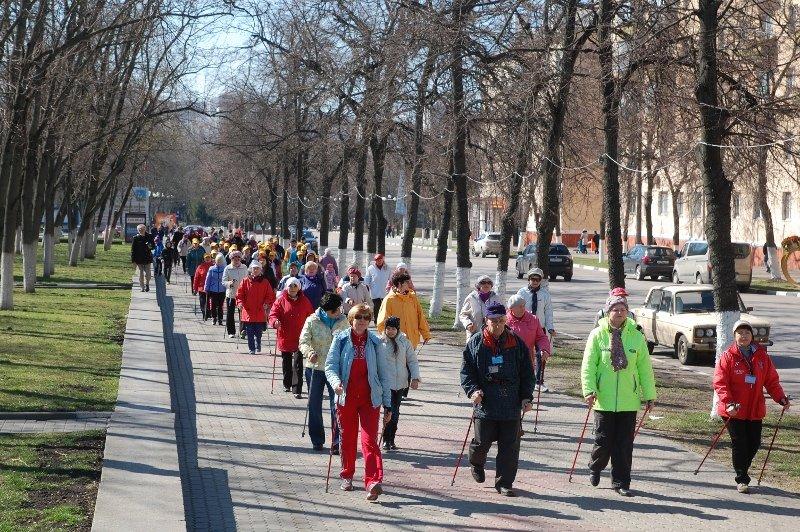 В Белгороде День здоровья отметили маршем с финскими палочками, фото-6