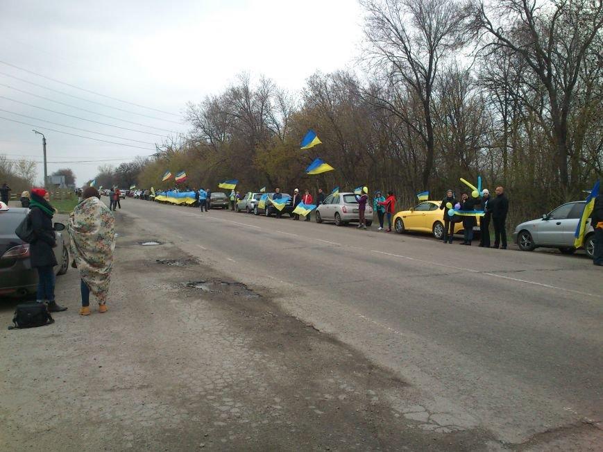 «Цепь Единения» в Днепродзержинске оказалось одной из самых больших в Украине, фото-1