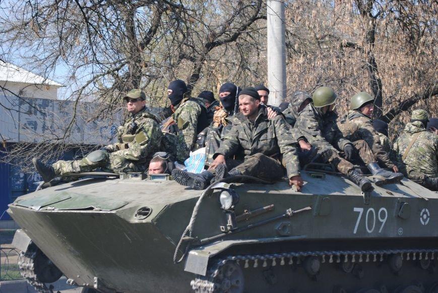 Из Краматорска в сторону Славянска проследовала колонна тяжелой военной техники (ФОТО, ВИДЕО), фото-14