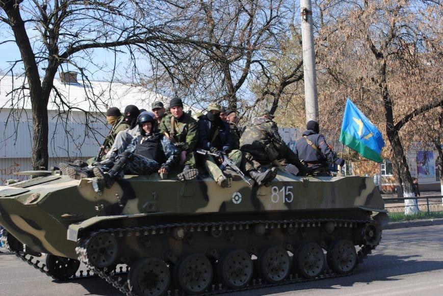 Из Краматорска в сторону Славянска проследовала колонна тяжелой военной техники (ФОТО, ВИДЕО), фото-10