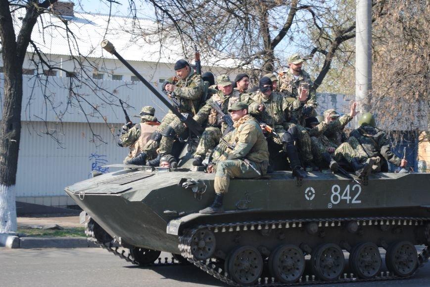Из Краматорска в сторону Славянска проследовала колонна тяжелой военной техники (ФОТО, ВИДЕО), фото-4