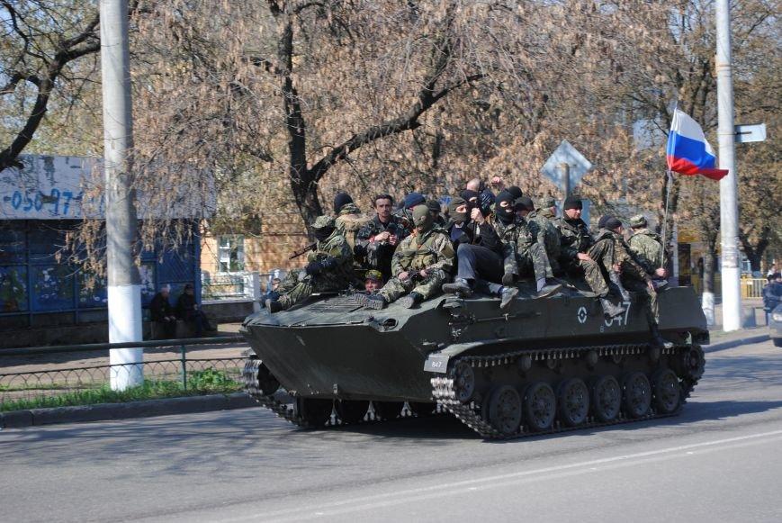 Из Краматорска в сторону Славянска проследовала колонна тяжелой военной техники (ФОТО, ВИДЕО), фото-1