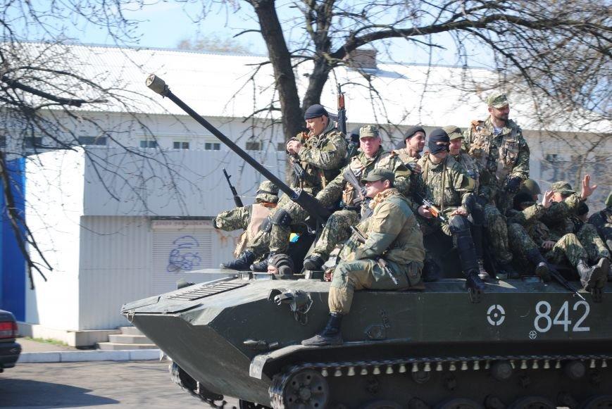 Из Краматорска в сторону Славянска проследовала колонна тяжелой военной техники (ФОТО, ВИДЕО), фото-5