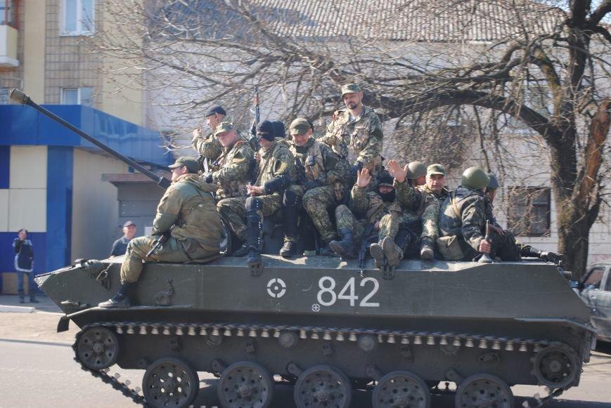 Из Краматорска в сторону Славянска проследовала колонна тяжелой военной техники (ФОТО, ВИДЕО), фото-8