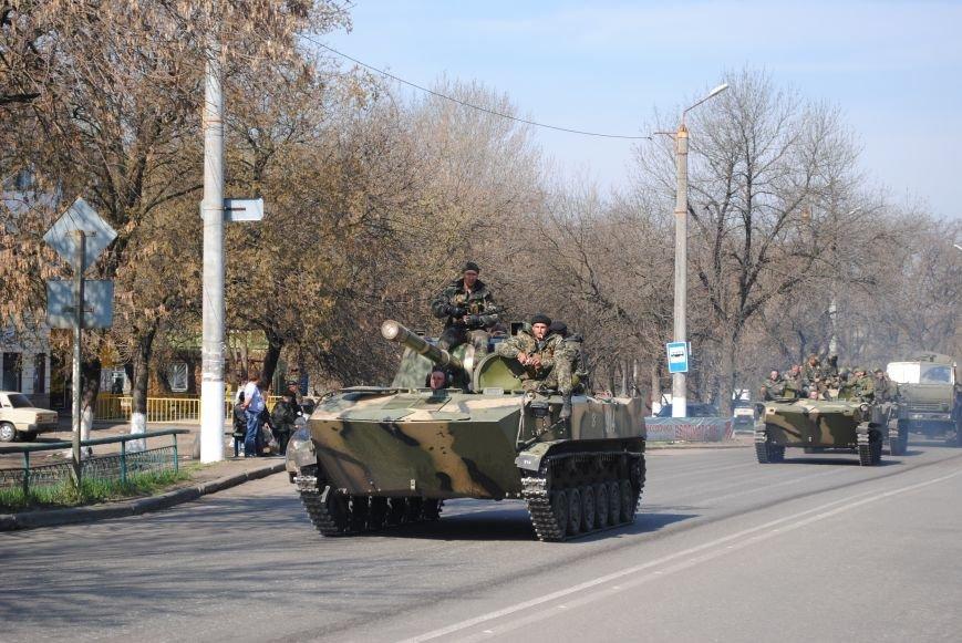 Из Краматорска в сторону Славянска проследовала колонна тяжелой военной техники (ФОТО, ВИДЕО), фото-11