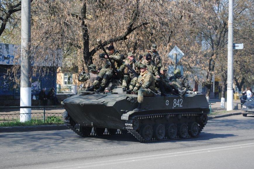 Из Краматорска в сторону Славянска проследовала колонна тяжелой военной техники (ФОТО, ВИДЕО), фото-3