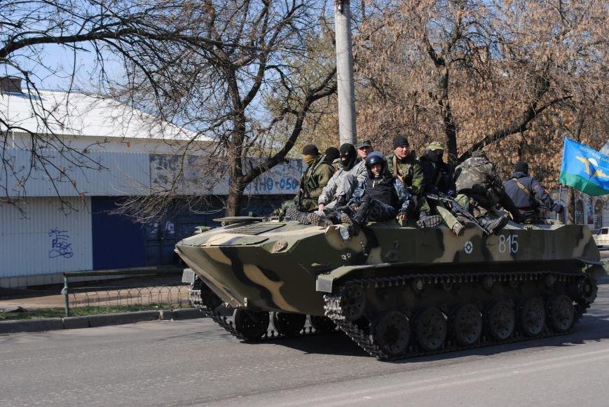 Из Краматорска в сторону Славянска проследовала колонна тяжелой военной техники (ФОТО, ВИДЕО), фото-9