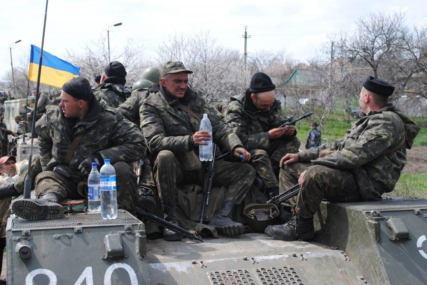 15 БТР с украинской армией в Краматорске переезд на Пчелкино, фото-10