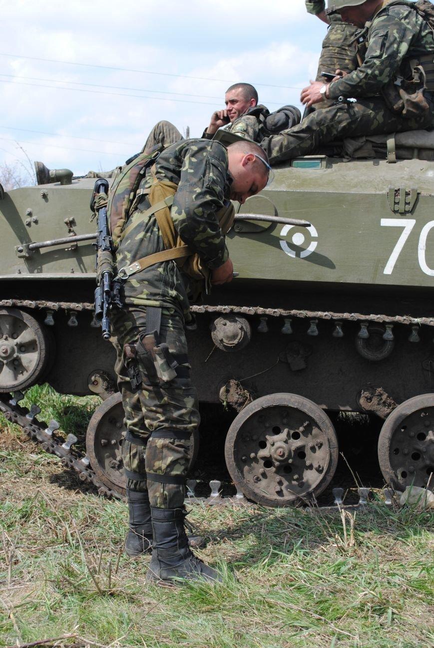 15 БТР с украинской армией в Краматорске переезд на Пчелкино, фото-16