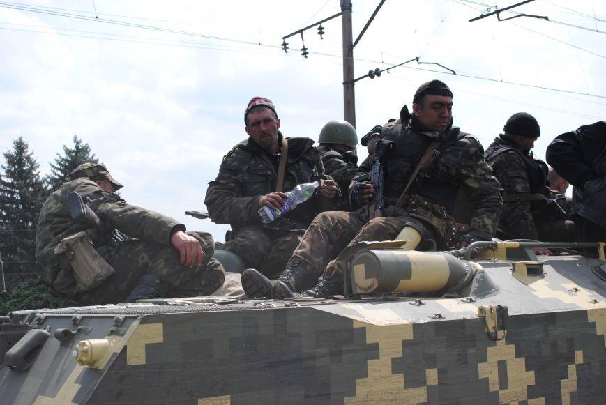 15 БТР с украинской армией в Краматорске переезд на Пчелкино, фото-6