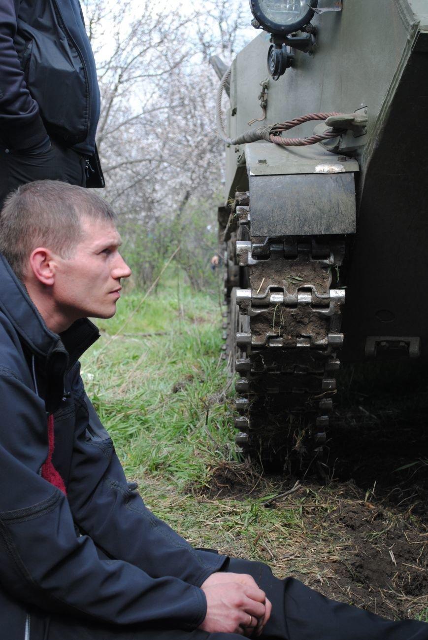 15 БТР с украинской армией в Краматорске переезд на Пчелкино, фото-19