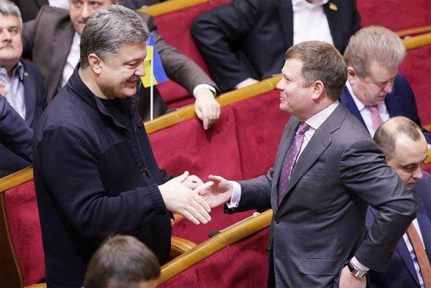 Жеваго і Порошенко. Фото Дмитра Ларіна