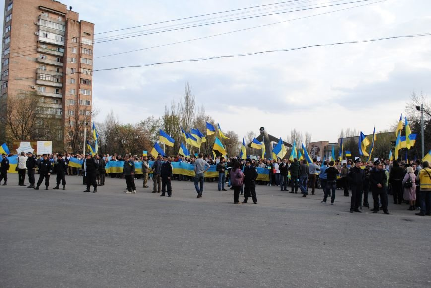 Митинг в Краматорске за «Единую Украину» (ФОТО, ВИДЕО), фото-1