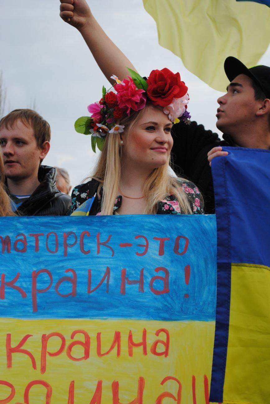 Митинг в Краматорске за «Единую Украину» (ФОТО, ВИДЕО), фото-13