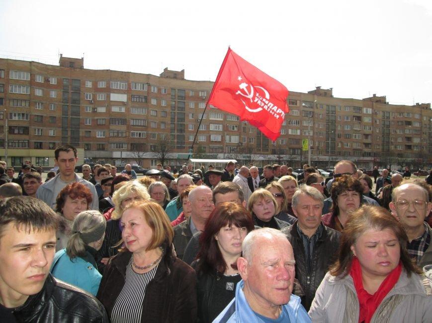 В Горловке снова митинг: сегодня на акцию приехал нардеп Анатолий Гончаров, фото-8