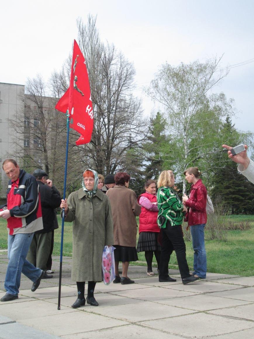 В Горловке снова митинг: сегодня на акцию приехал нардеп Анатолий Гончаров, фото-1