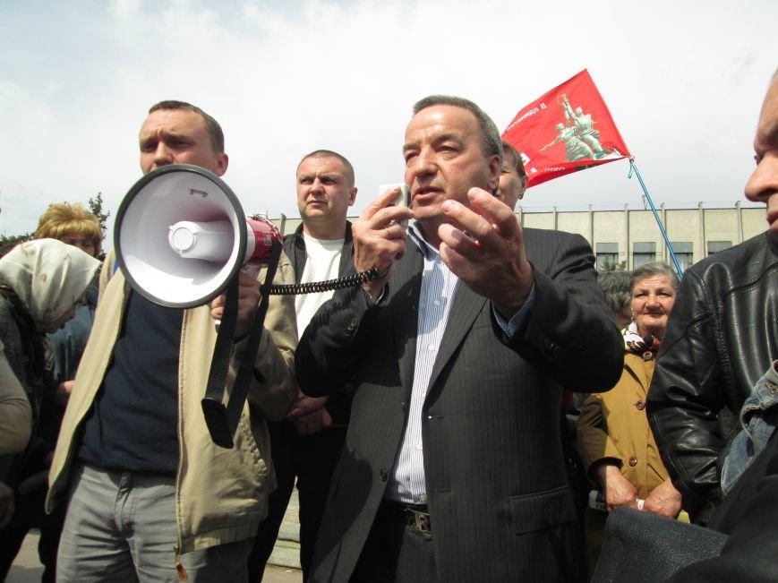 В Горловке снова митинг: сегодня на акцию приехал нардеп Анатолий Гончаров, фото-5