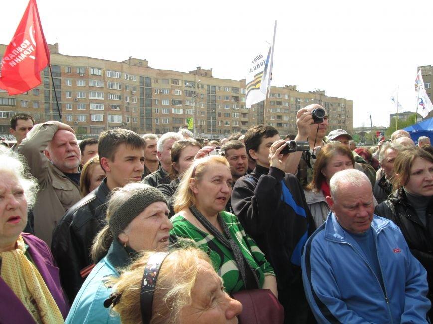 В Горловке снова митинг: сегодня на акцию приехал нардеп Анатолий Гончаров, фото-6