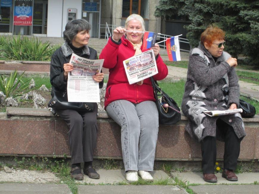 В Горловке снова митинг: сегодня на акцию приехал нардеп Анатолий Гончаров, фото-2