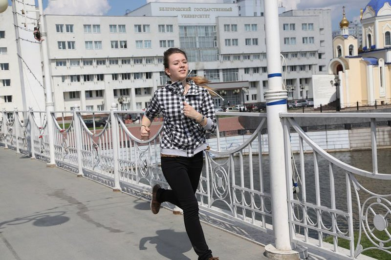 Студенты белгородского госуниверситета устроили соревнования под девизом «Беги, форест, беги», фото-1