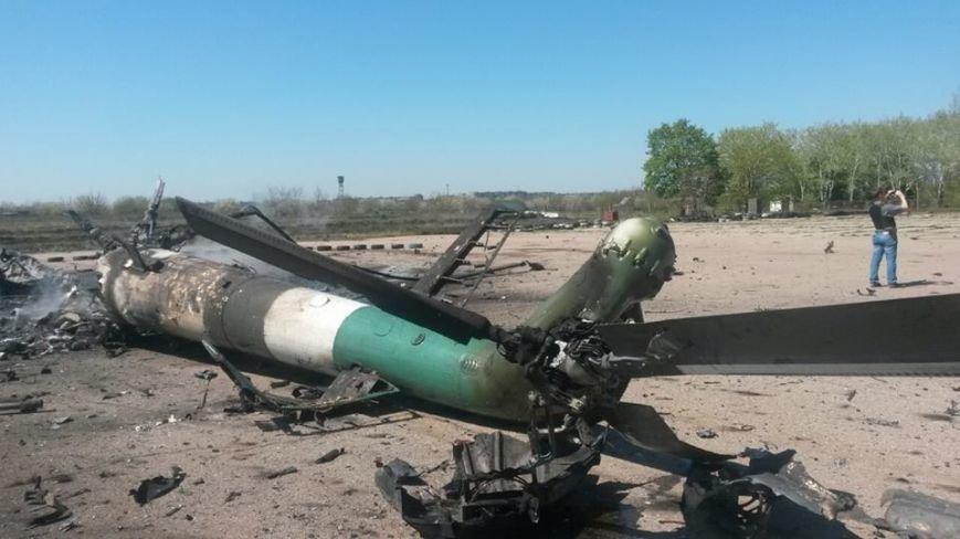 Последствия вчерашнего взрыва на Краматорском аэропорте, фото-1