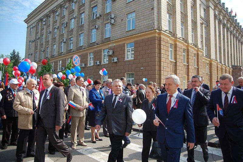 В Белгороде празднование первомая открыло традиционное шествие, фото-2