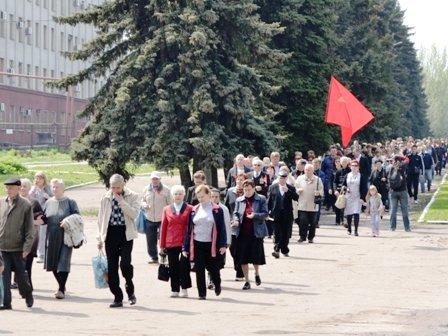 Вчера в Горловке прошло праздничное шествие в честь дня трудящихся, фото-2