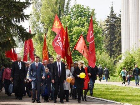 Вчера в Горловке прошло праздничное шествие в честь дня трудящихся, фото-1