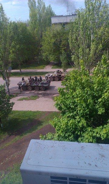 БТР возле Дворцовой 38, Крамтаорск (ФОТО, ВИДЕО), фото-2