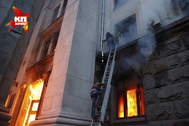 ОДЕССА - Пожарные прехали через 40 минут после начала пожара