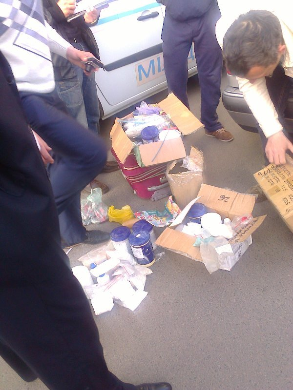 Міліція з'ясовує чому невідомі везли до Львова бронежилети та банки із хімічними речовинами (ФОТО), фото-1