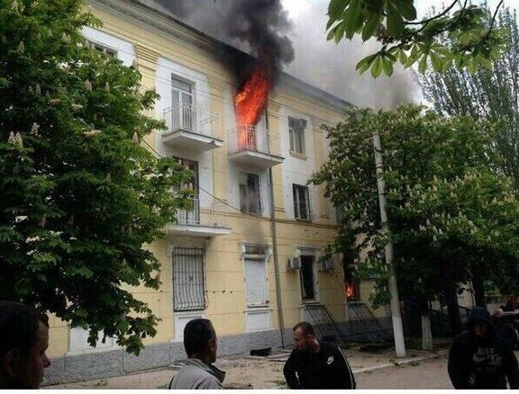 В Мариуполе здание ГУВД выгорело до тла, погиб милиционер (ФОТО), фото-4