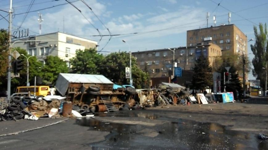 Здание Мариупольского горсовета выгорело частично, а УВД выгорело полностью (Фото), фото-7